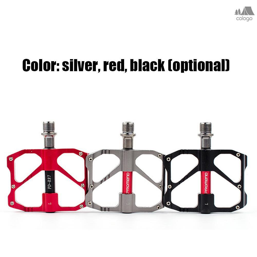 "PROMEND Carbon Tube Bicycle Road Bike Pedal Black Ultralight 3 Bearings 9//16/"""