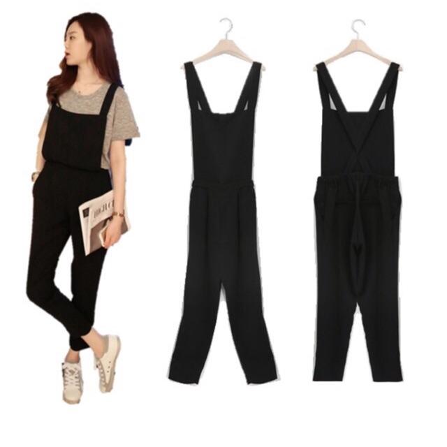 dcb02732bf9 Women fashion denim dress loose plus size big pocket literary casual  jumpsuit
