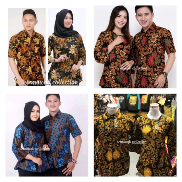 Couple set batik/batik blause/kemeja/ready stock