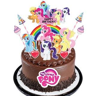 High Quality Cake Topper Kek Cake Decor For Girl Little Pony Baby Shark Shopee Malaysia