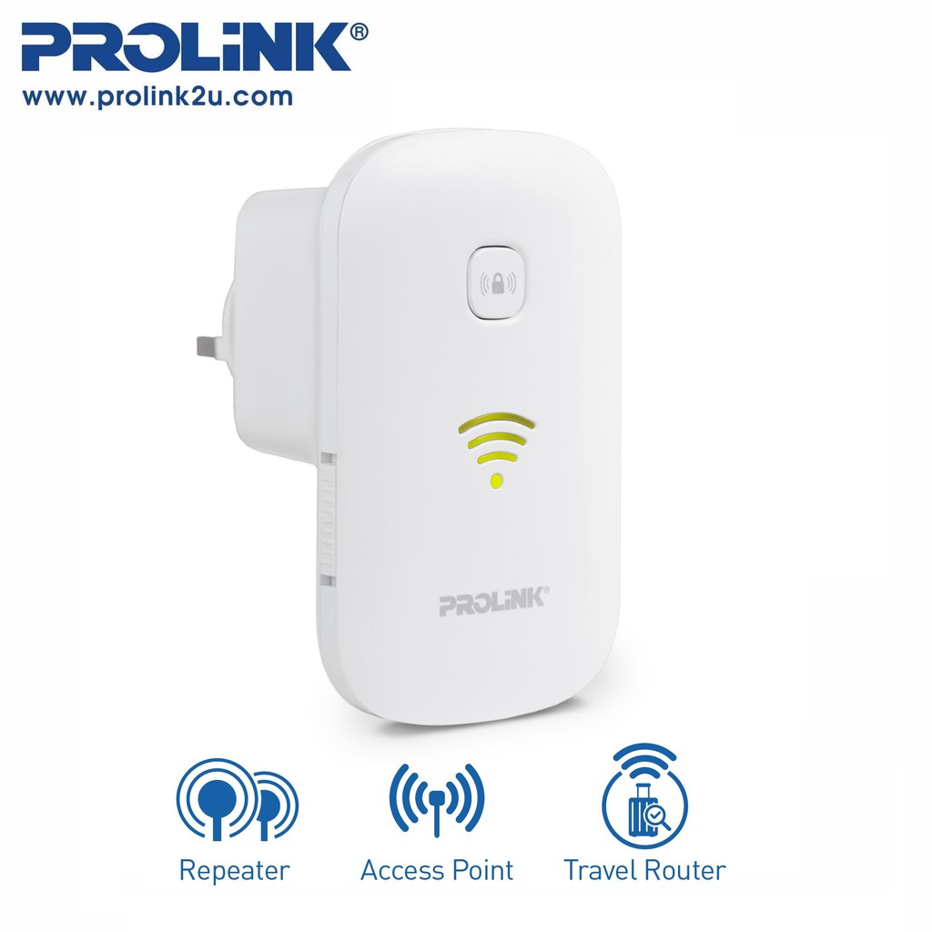PROLiNK 300Mbps Wi-Fi Range Extender Wireless Repeater Wireless Booster PEN1201