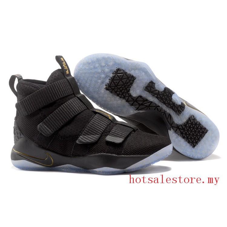 newest f45da 8fc69 mens nike lebron james Soldier 11 basketball shoes LBJ basket sneakers black