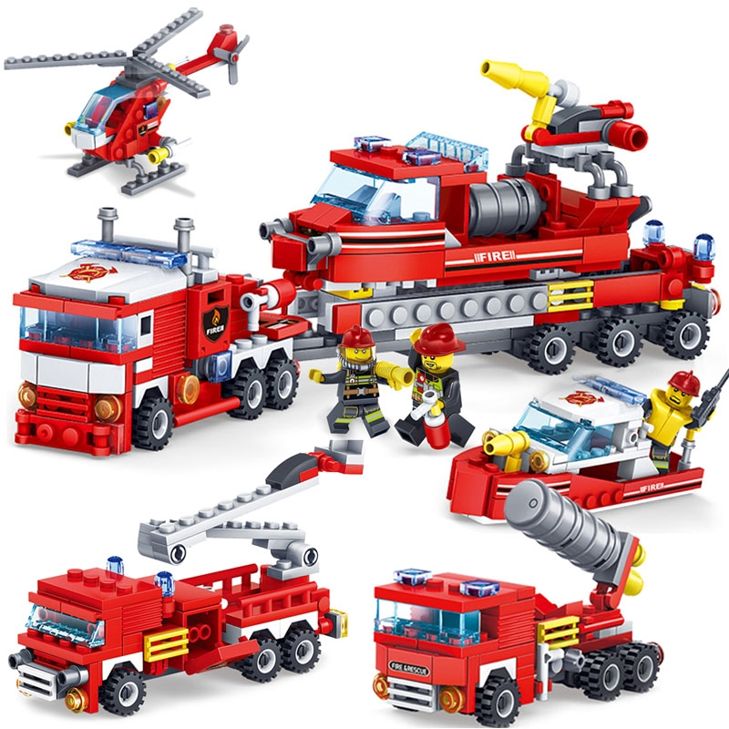 Model Building Beautiful Legoing City Firefighter 119 Emergency Fire Rescure Building Blocks Toys For Children Compatible Legoings Police Kid
