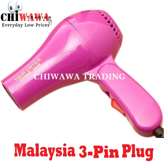 【Malaysia 3-pin-plug】 850W Ionic Ceramic Foldable Hair Dryer / Pengering Rambut
