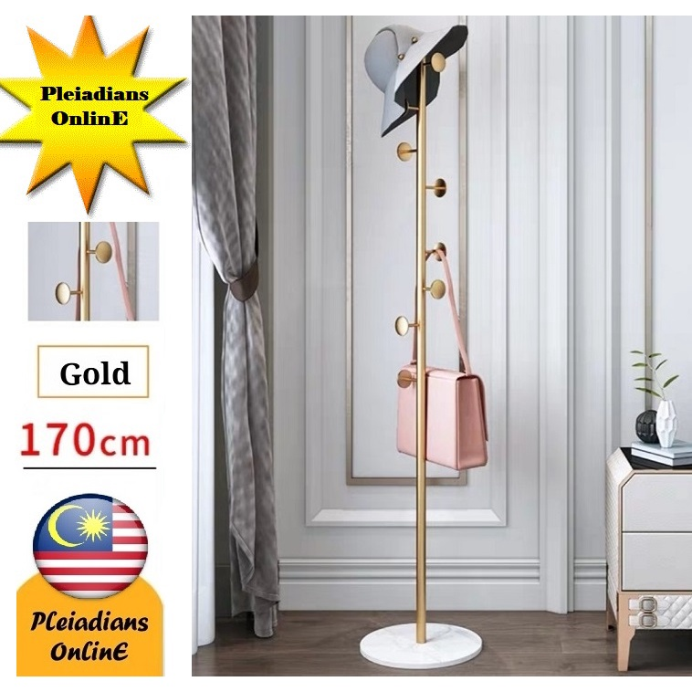 [ READY STOCK ]  Wrought Iron Nordic Hanger Bag Coat Simple Modern Rack Storage Hang Furniture Perabut Jualan Murah Baju