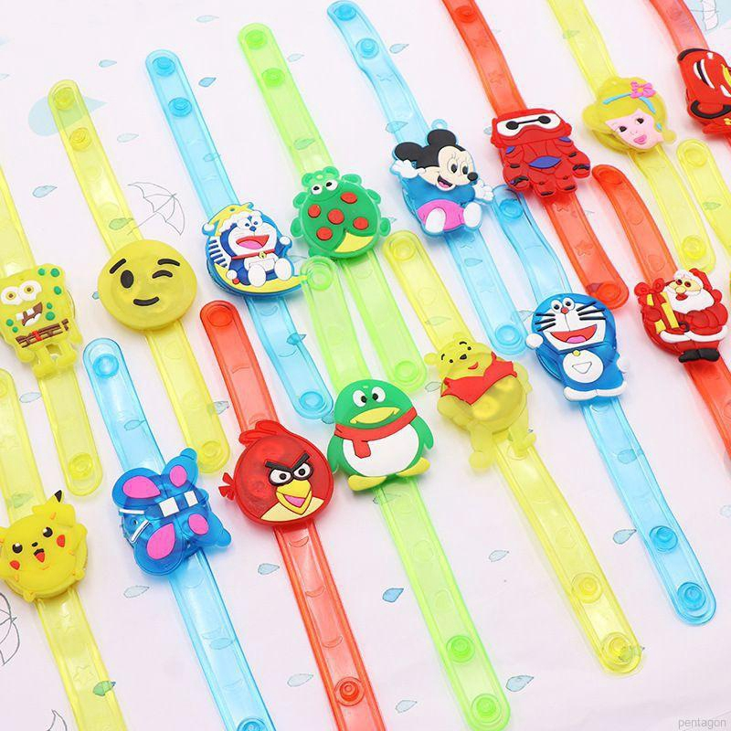 Hello Kitty Kids Toy Cartoon Creative Watch Luminous Bracelet Gift