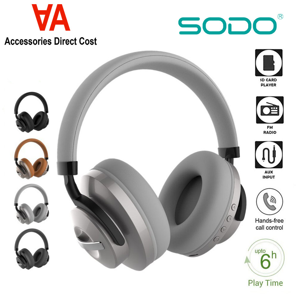 SODO SD-1006 Dual Mode (Wired & Wireless) Bluetooth 5 with AUX, TF Card, FM Headphone