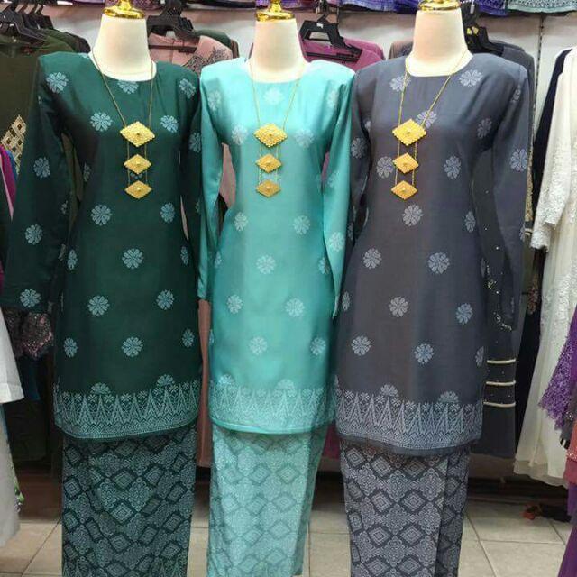 Baju Kurung Songket Bunga Tabur Shopee Malaysia