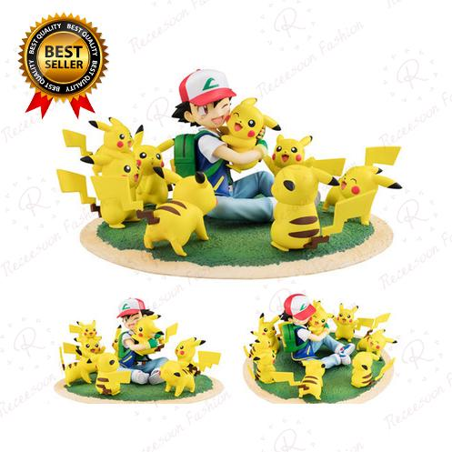 Pokemon Mini Figure Pikachu 5-8 CM Action Set Statue Display Toys Collection