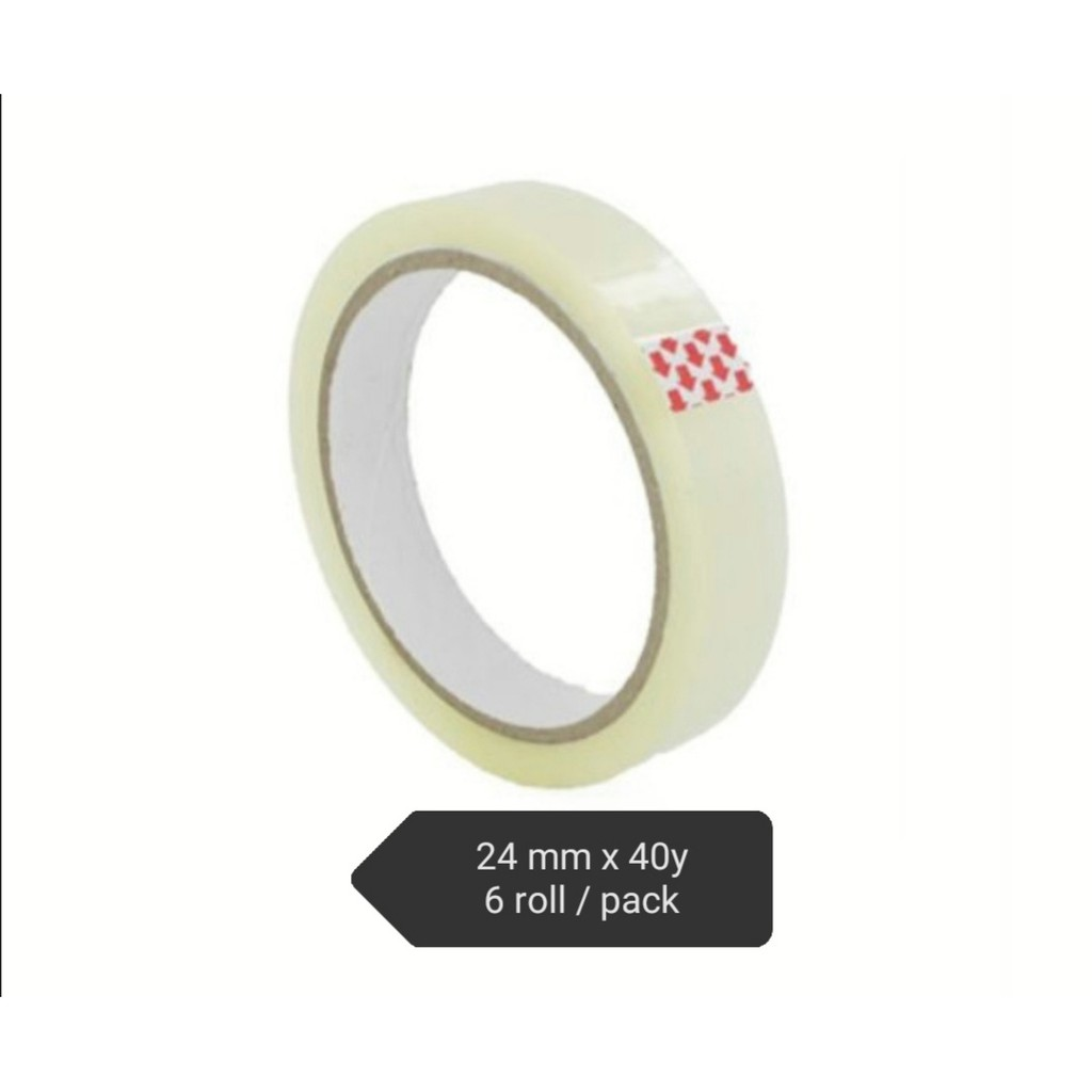 ( Small Pack ) Packing Tape 24mm x 40Y x 6 Rolls / Tube ( Ready stock )