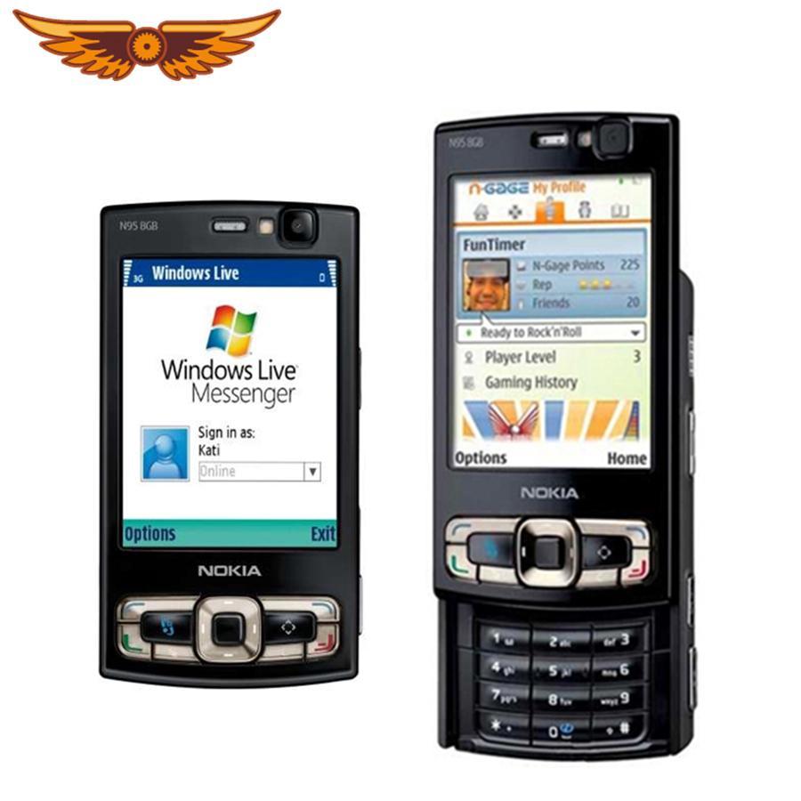Original Nokia Storage Refurbished 5mp Mobile 8gb Phone Unlocked N95 Camera