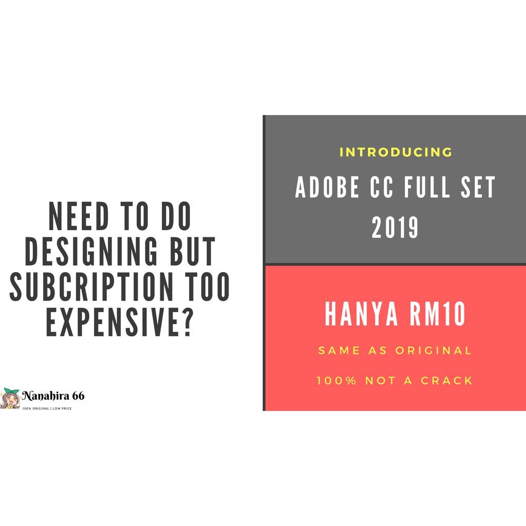 Adobe CC 2019 Full Set for PC 32/64 Bit LIFETIME