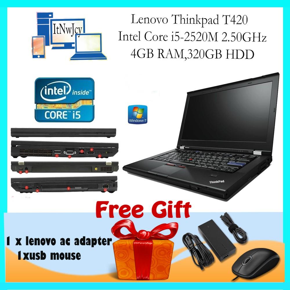 [Refurbished]Lenovo Thinkpad T420 (i5-2520M,4GB RAM,320GB HDD)FREE Usb mouse