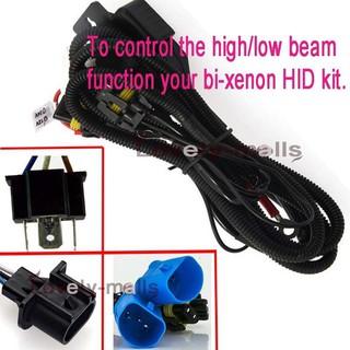 PREMIUM 9007 BI XENON HID RELAY HARNESS WIRING FUSE HI/LO 9004 CONTROLLER on
