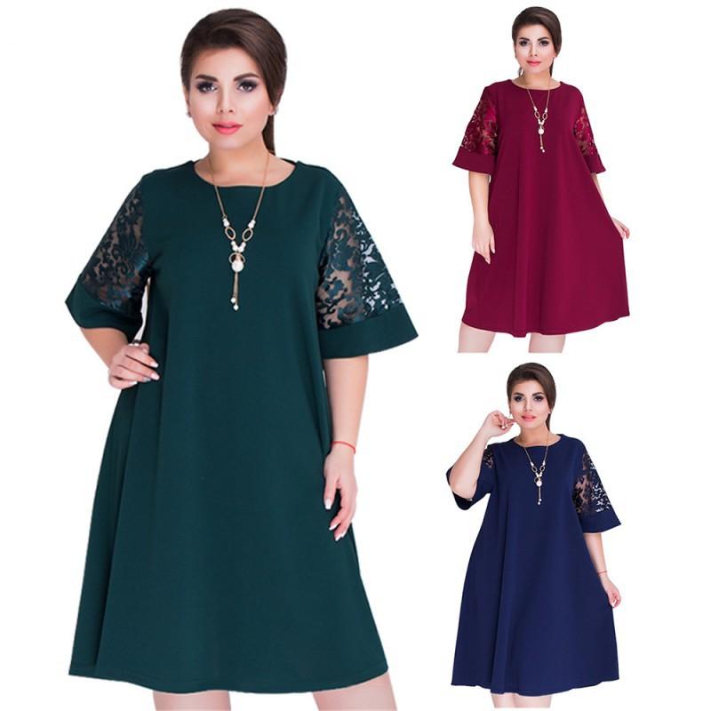 4f924cb5f5185 Elegant Women O-Neck Dress Sleeveless Party Pleated Dress Plus Size