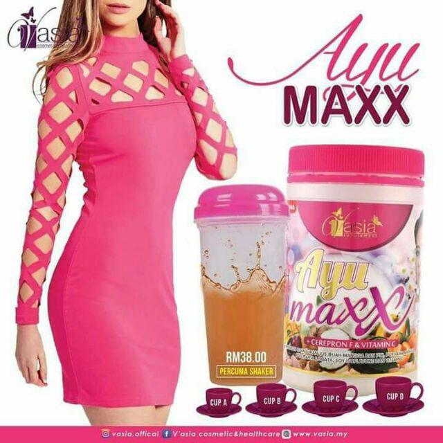 VASIA AYU MAXX 400GM 100% ORIGINAL HQ+FREE SHAKER + FREEGIFT
