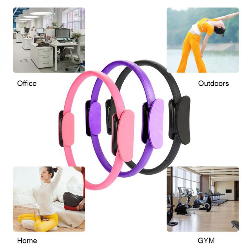 Double Handle Grip Pilates Yoga Resistance Ring Gymnastic Aerobic Magical Circle
