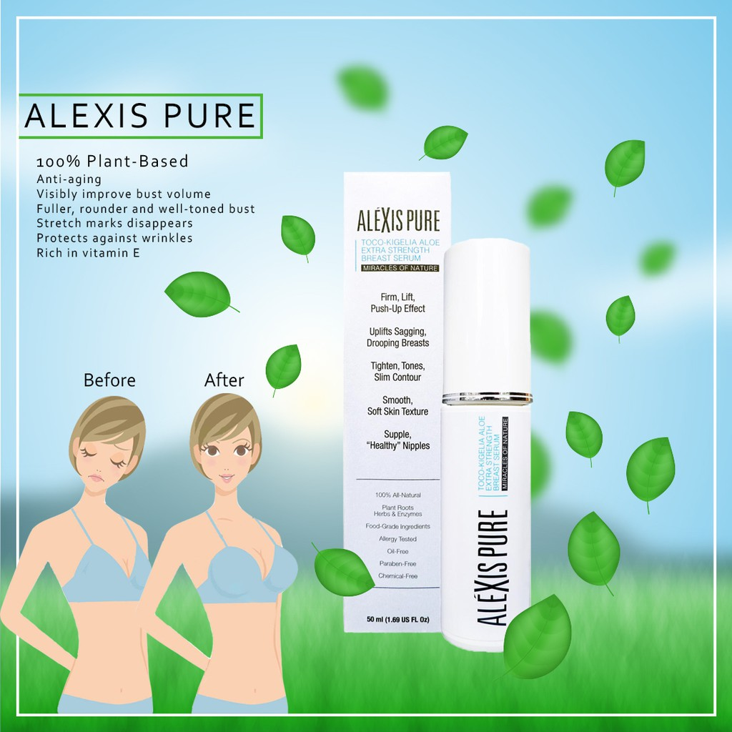 Alexis Pure Toco-Kigelia Aloe Breast Firming, Breast Lifting, Bust Firming & Enhancement Serum