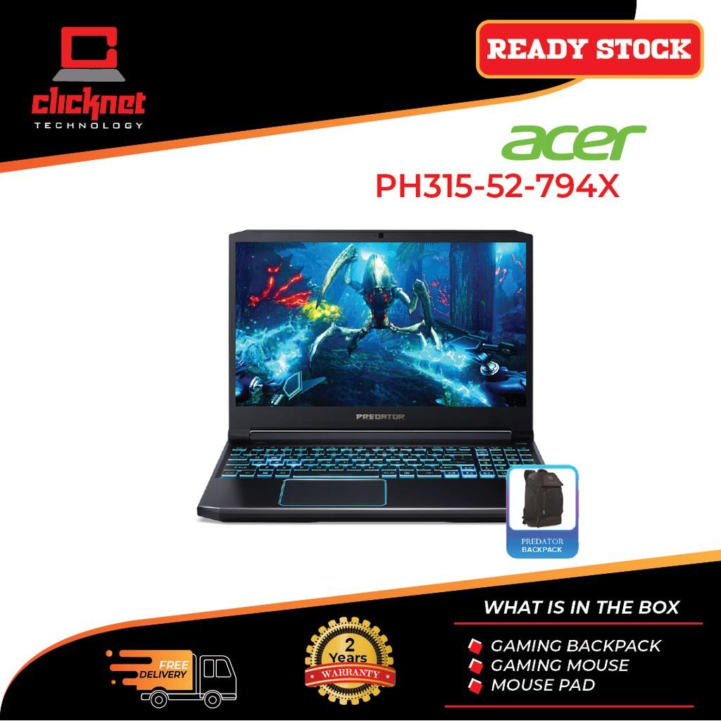 Acer Predator Helios 300 Ph315 52 794x 15 6 Fhd Ips 144hz Gaming Laptop I7 9750h 8gb 512gb Rtx2060 6gb W10 16gb