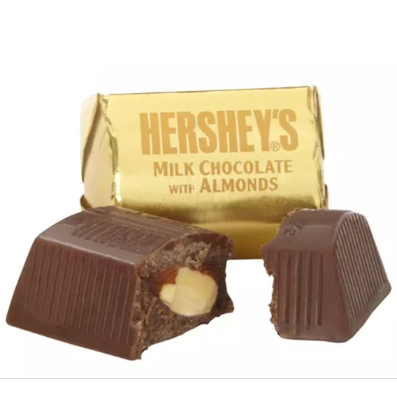 Hersheys Nuggets Milk Chocolate with Almonds 1 Piece Coklat
