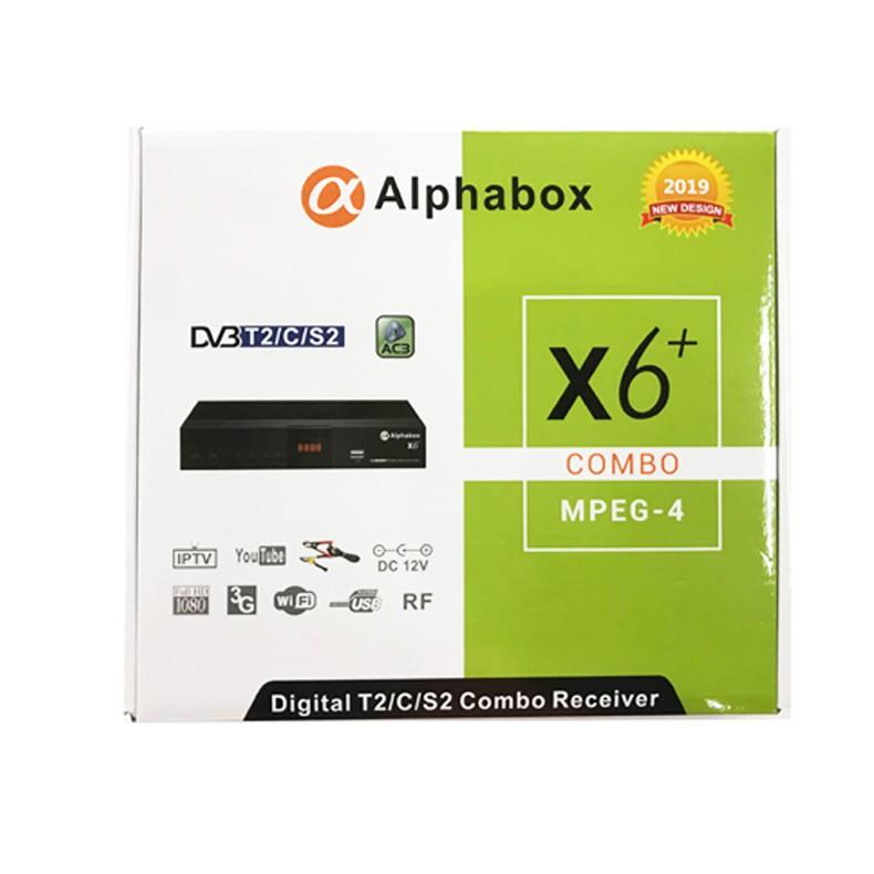 2019 Alphabox X6+ Combo DVB-S2/T2/C Cccam Newcamd Mgcamd Powervu