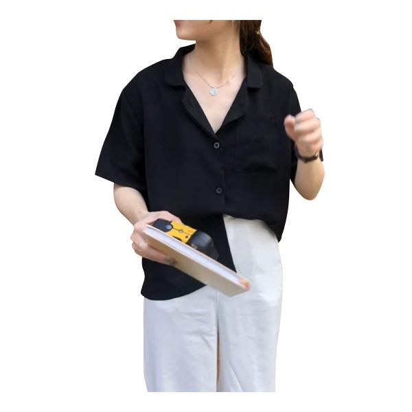 เสื้อเชิ้ตแขนสั้นวินเทจ หญิงชาย ใส่ได้ อก 32-42