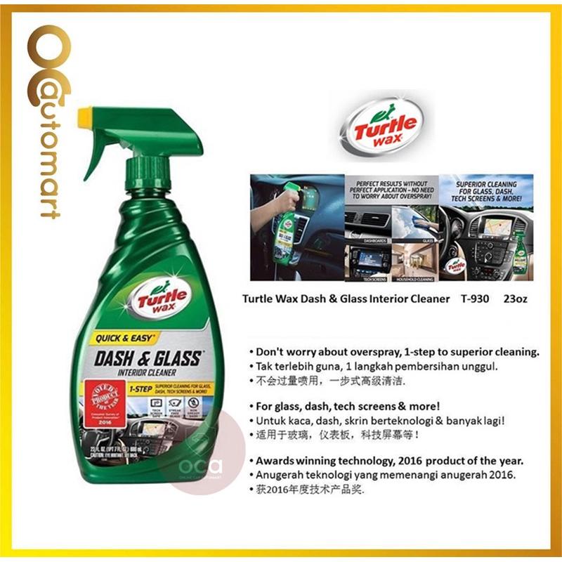 TURTLE WAX QUICK & EASY DASH & GLASS INTERIOR CLEANER 23 fl.oz