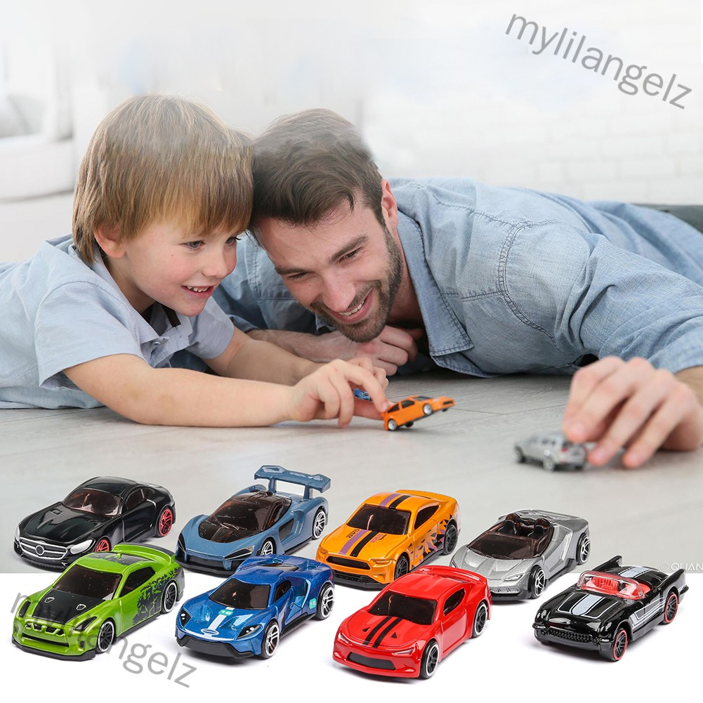 Mylilangelz 5PCS 1:64 Simulated Children Toy Multi-Style Taxiing Alloy Mini Car Model