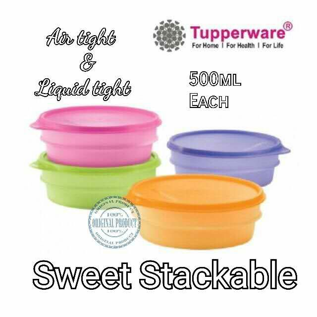 💥Ready Stock💥Tupperware Sweet Stackable 500ml - Set Of 4