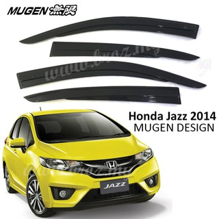 Mugen Style Door Visor Honda Jazz 2014-2018 (4PCS/SET