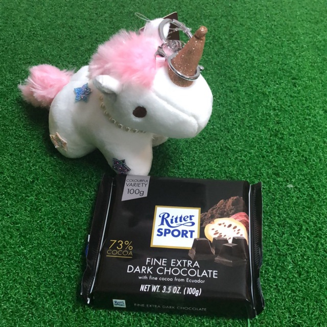 Bundle set Ritter sport 100g with unicorn Keychain