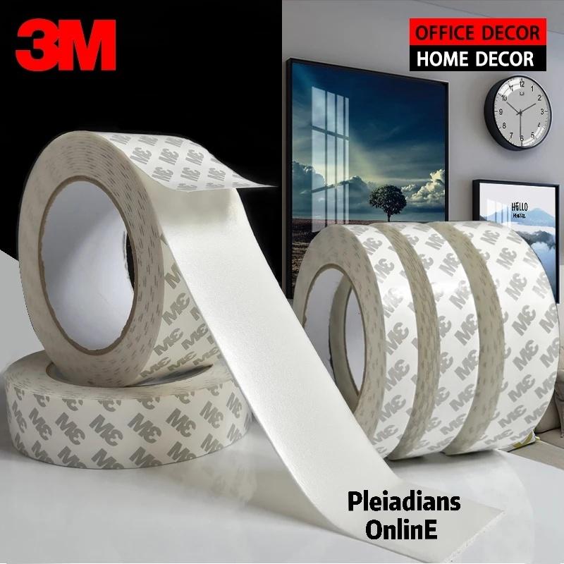 [ READY STOCK ]  3M Sponge Tape Strong Double Sided Sticky Wall White Foam Kitchen Window Door Seal Strip Jualan Murah