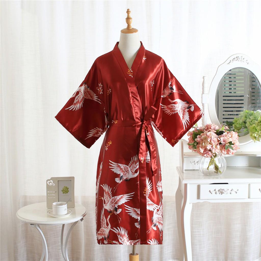 Wedding Gown Bridesmaid Bride Robe Makeup Robe Silk Nigthwear Robe Shopee Malaysia