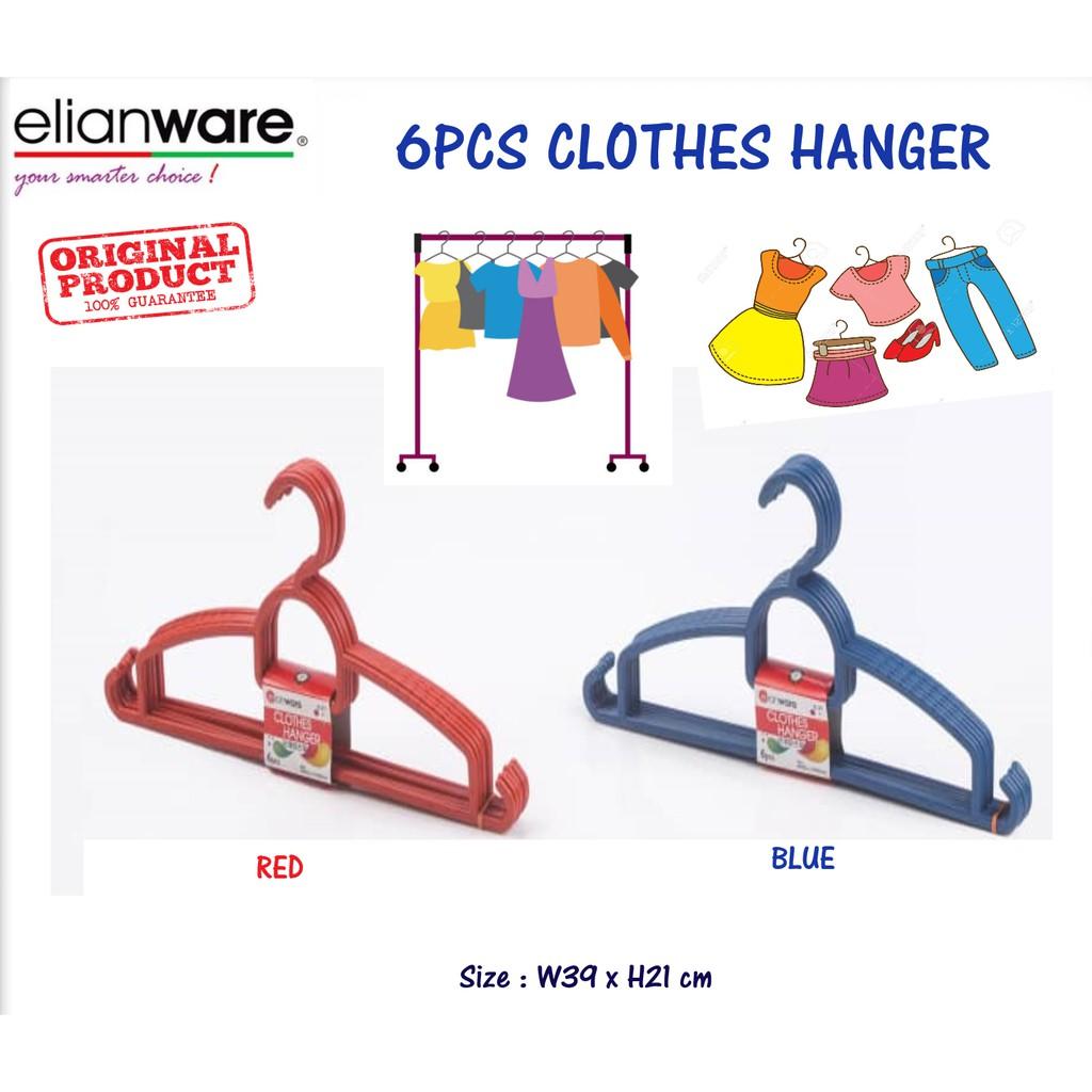 Elianware Set Value Pack Durable Hanger Clothes (6 Pcs)