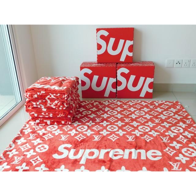 READYSTOCKSupreme X Lv Blanket | Shopee Malaysia