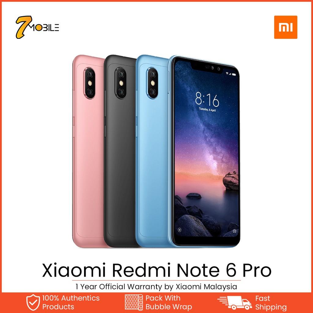 "Xiaomi Redmi Note 6 Pro [6 26"" / 4GB RAM / 64GB ROM] Original Mi Malaysia"
