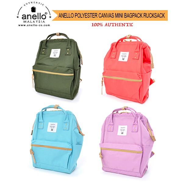 4b37363253b Anello Polyester Canvas Mini Backpack AT-B0197B | 100% Authentic | Shopee  Malaysia