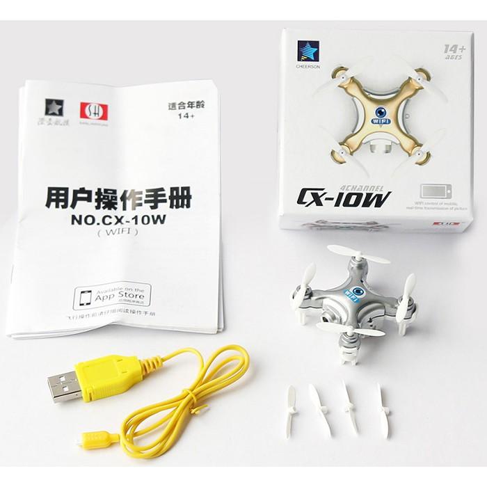 Cheerson CX-10W Quadcopter CX10W CX-10W WIFI FPV / APP Control / 0.3MP  Camera | Shopee Malaysia