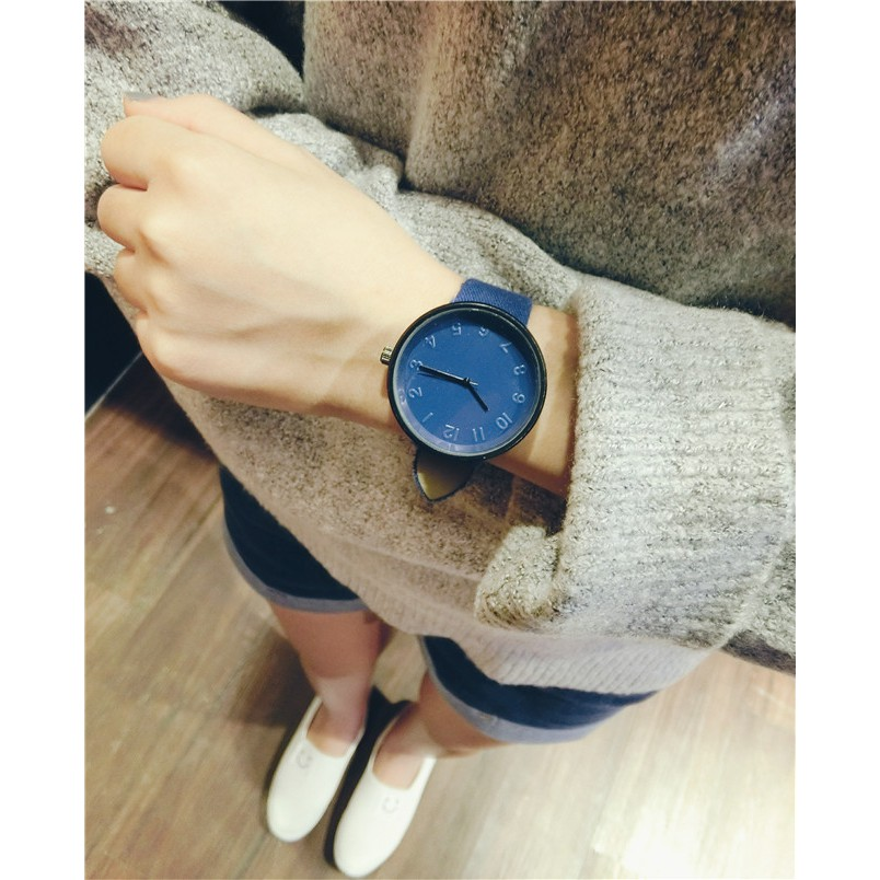Classic Luxury Fashion Leather Strap  Minimalist Jam Tangan Perempuan Baru 甜美型女生手表