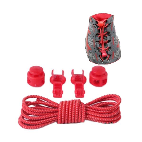 [การซื้อที่ จำกัด 1]เชือกผูกรองเท้าแบบยืดหยุ่น สำหรับเล่นกีฬา