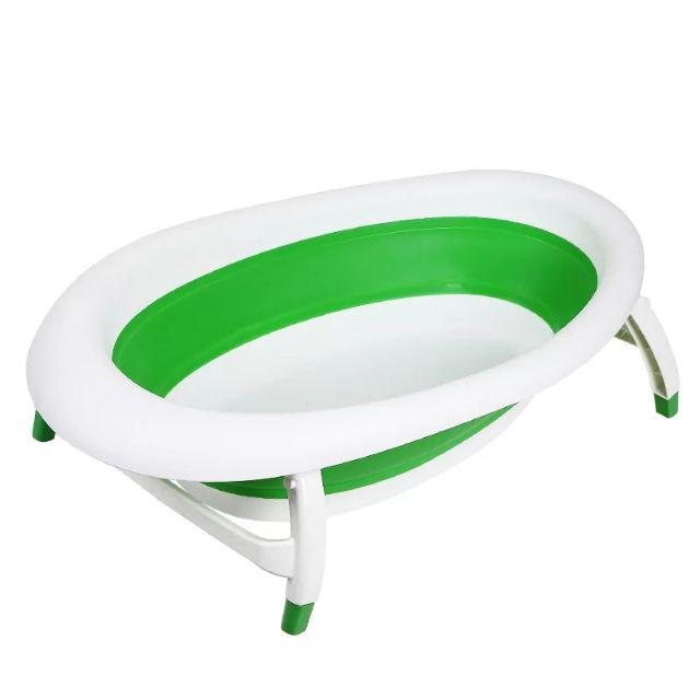 [ READY STOCK ]  Newborn Baby Folding Bath Tub Basin Portable Sitting Lying Bucket Baby Shower Bath Tub Kid Jualan Murah