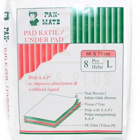 Pan-Mate Disposable Underpad 60cmx75cm (L) 8\'s