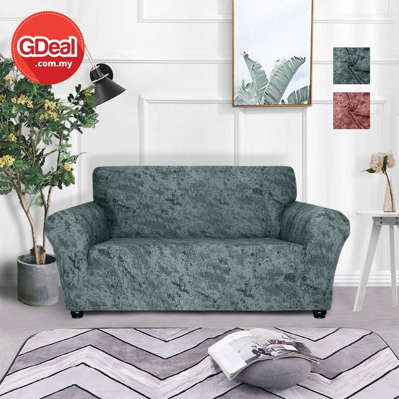 GDeal European Universal Elastic Stretch Anti Skid Sofa Cover Pelindung Sofa (145-185CM) ڤليندوڠ سوف