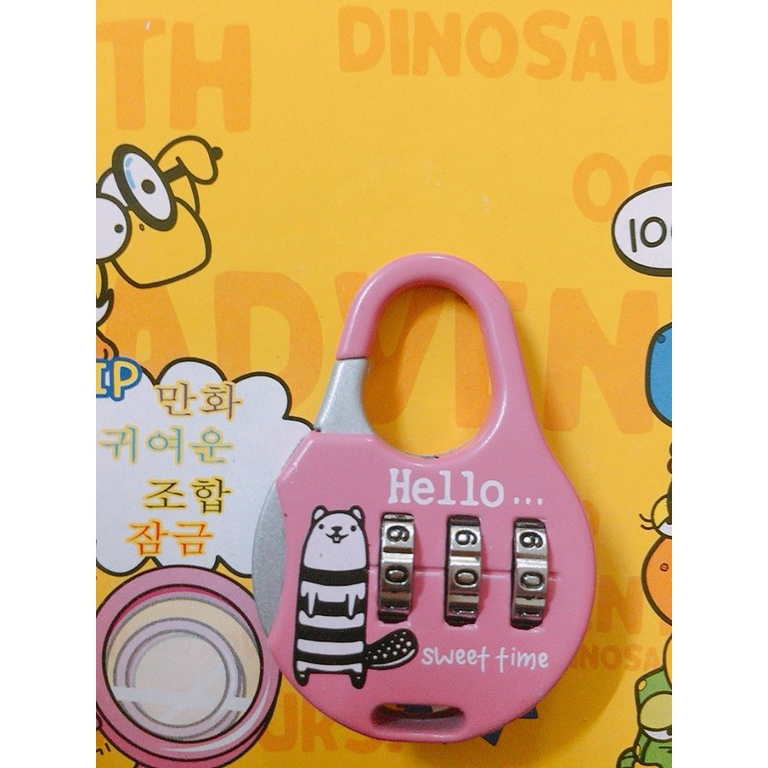 Lovely Cartoon 3 Numbers Alloy Password Traveling Lock Luggage Drawer Cabinet Security Padlock Premium Quality HL108