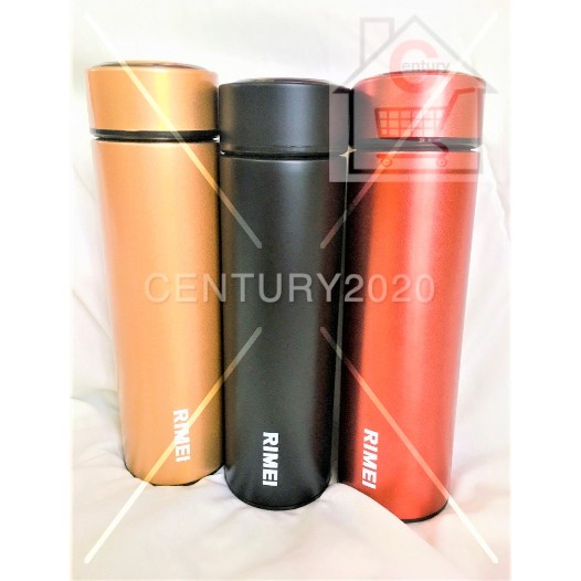 RIMEI Water Bottle Thermos Mug for Hot & Cold Drinks, Vacuum Insulated Stainless Steel Travel Flask with Filter