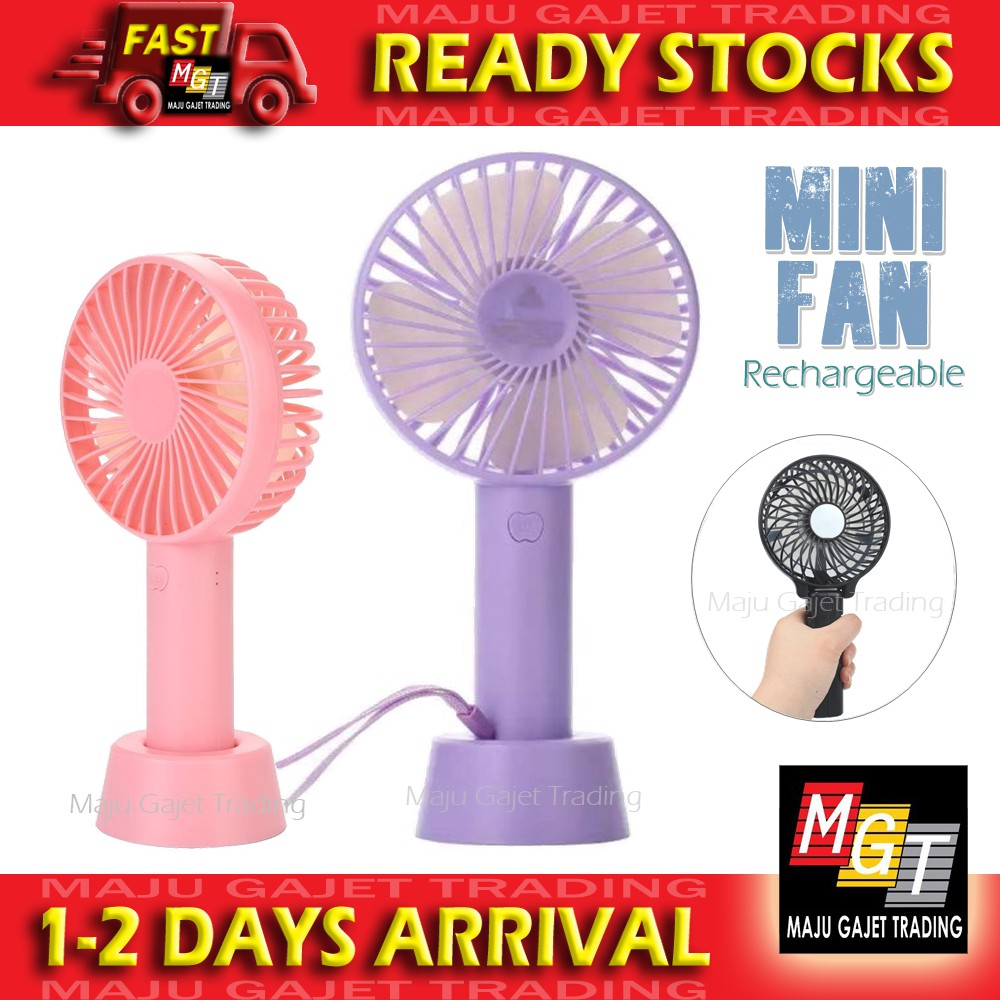 USB Rechargeable Mini Portable Fan Handheld Kipas with Standable Base
