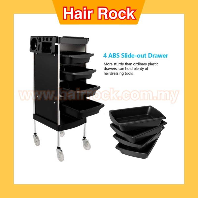 Salon Trolley Cart with ABS Drawers With Rolling Wheels for Stylist Hairdresser (X-11)