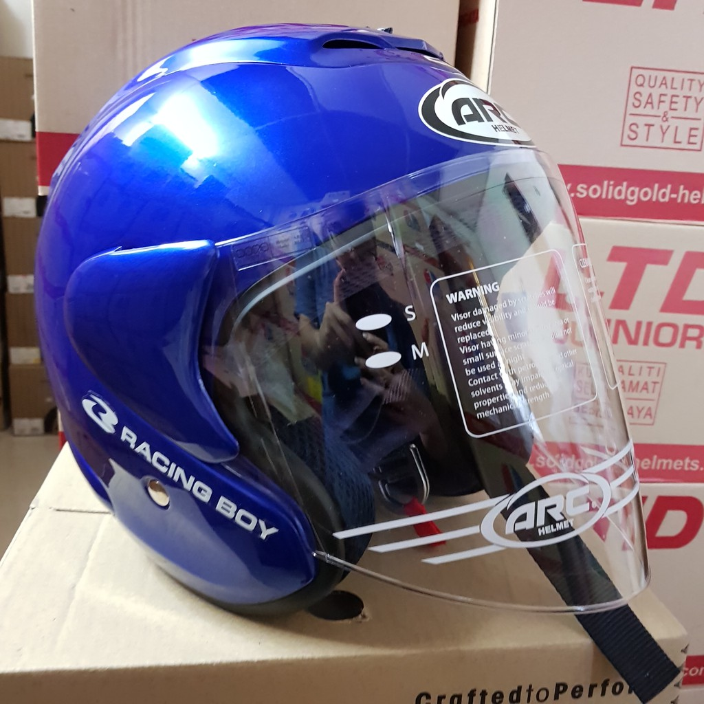 100% Original** ARC Ritz Racing Boy Helmet (Deep Blue