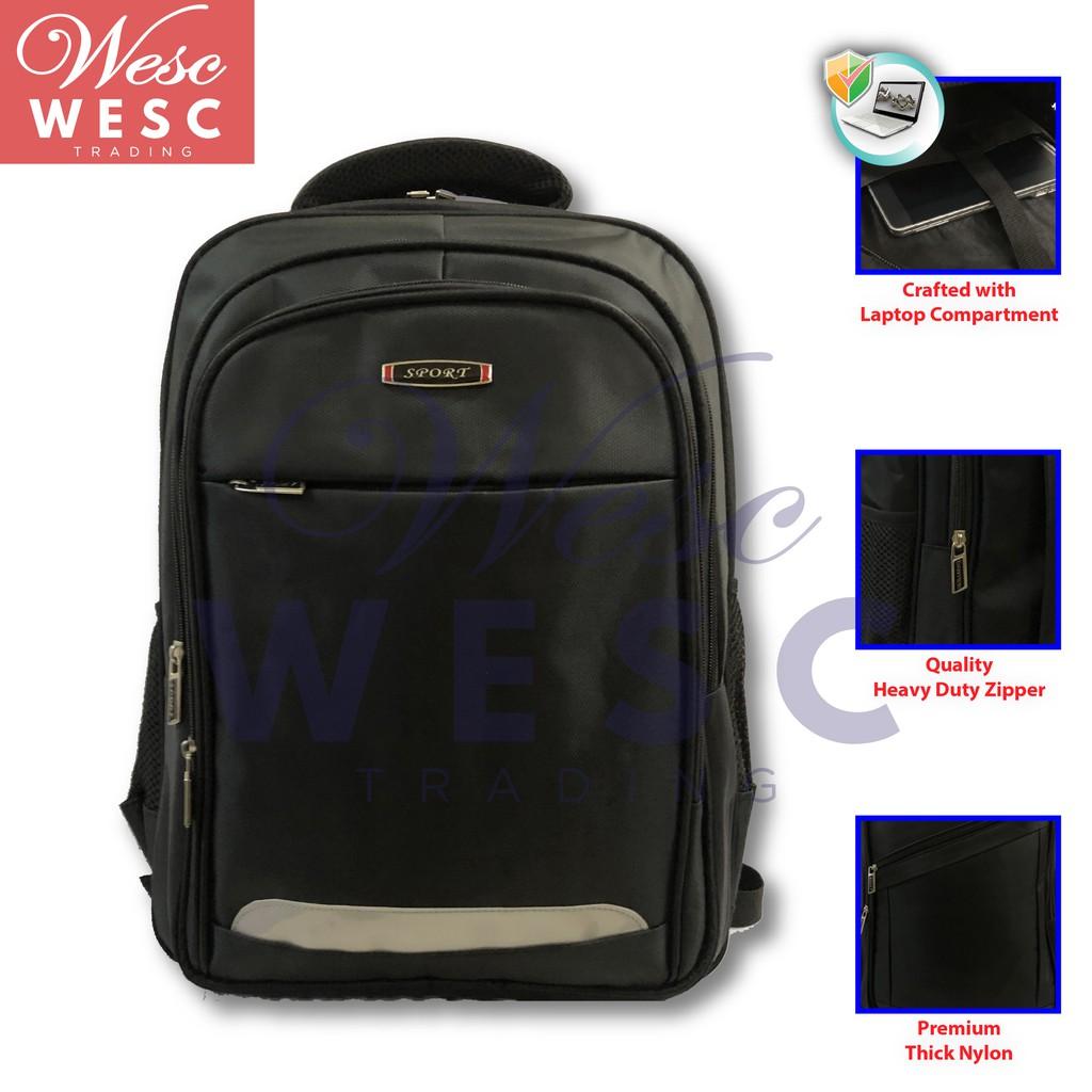WESC-TRD Urban Design Large Water Resistant Laptop Backpack / Beg Komputer Besar / Laptop Bag / Travel Bag (Design 2)