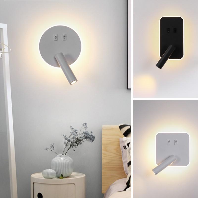Led Wall Light Modern Wall Lamp With Spotlight Bedroom Wall Lights Sconces Indoor Lighting Adjustable Shopee Malaysia